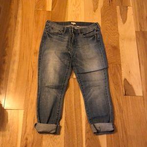 J. Crew boyfriend jeans.